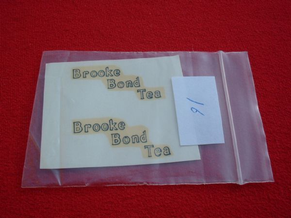 "Dinky Toys 455 TROJAN ""BROOKE BOND TEA"" TRANSFERS / DECALS"